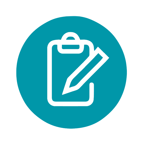Assessment Icon (clipboard & pencil)
