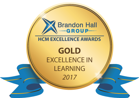 COVETED BRANDON HALL GROUP GOLD AWARD
